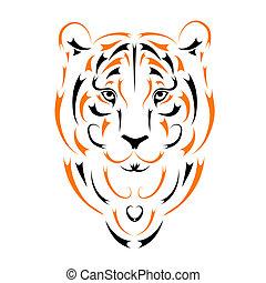 2010, simbolo, tiger, anno