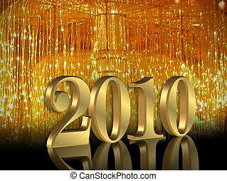 2010, vigilia, anni, nuovo