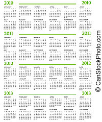 2011, calendario, 2012, 2013, 2010