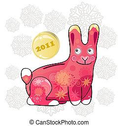 2011, divertente, coniglio