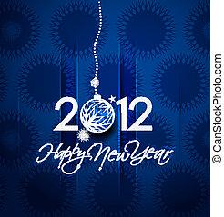 2012, anno, nuovo, manifesto