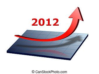 2012, grafico, freccia, anno