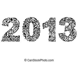 2013, disegno, floreale