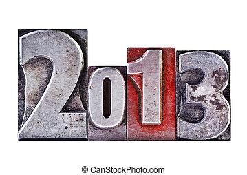 2013, letterpress
