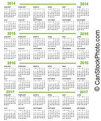 2014, anno nuovo, 2015, 20, calendario