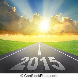 2015, avanti, concetto, anno nuovo