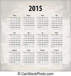2015, backgroun, calendario, textured
