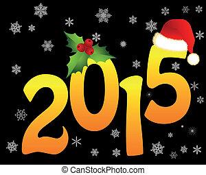 2015, dorato, figure, natale