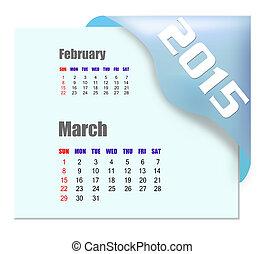 2015, marzo, calendario, -, serie