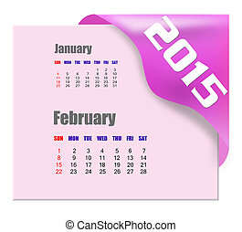 2015, serie, febbraio, -, calendario