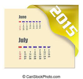 2015, serie, luglio, -, calendario