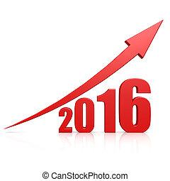 2016, crescita, freccia rossa