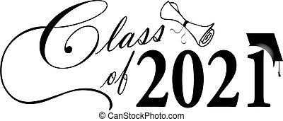 2021, graduazione, bandiera, classe