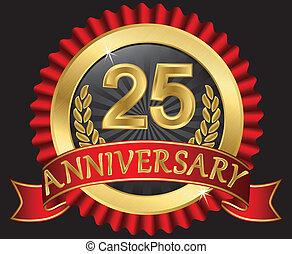 25, anni, dorato, anniversario