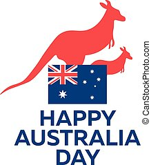26, australia, illustration., january., day., vettore, felice