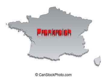 3, francia, mappa