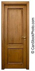 3, legno, porta