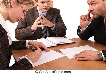 3, riunione, affari