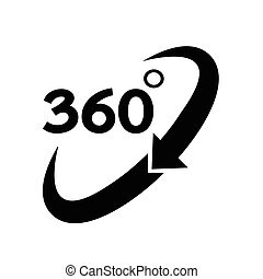 360 grado, icona