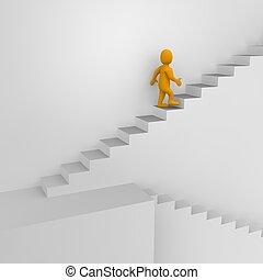 3d, reso, illustration., uomo, scale.
