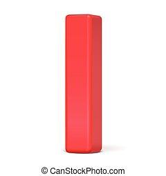 3d, rosso, lettera, plastica