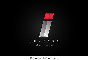 3d, styling, disegno, logotipo, alfabeto, affari, creativo, lettera, argento, ditta, color., grigio, icona, rosso