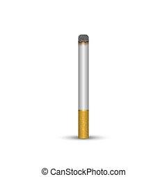 3d, vettore, illustrazione, cigarette., realistico