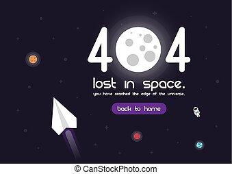 404, errore, pagina