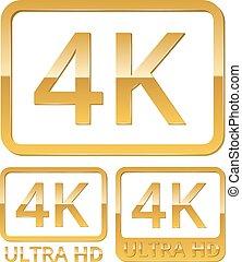 4k, ultra, icona, hd