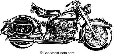50, americano, motocicletta, miod