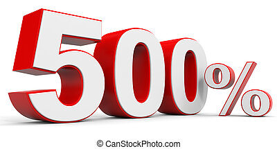500, scontare, via., percento