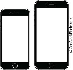 6, più, iphone
