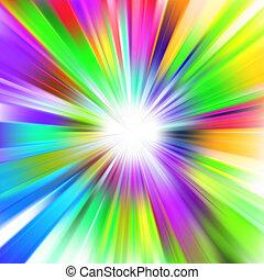 8, multicolor, disegno, eps, burst.