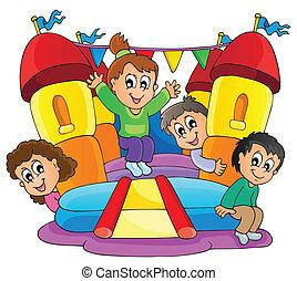 9, gioco, bambini, tema, immagine