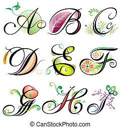 a-i, alfabeti, elementi