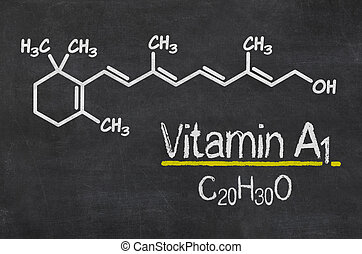 a1, lavagna, chimico, vitamina, formula
