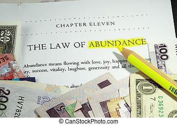 abbondanza, legge