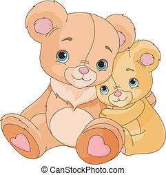 abbracciare, orsi