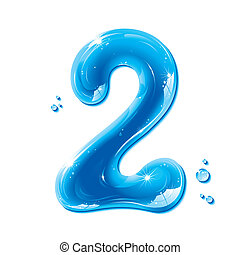 abc, liquido, serie, -, numero, acqua, 2