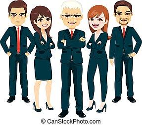abito blu, squadra affari