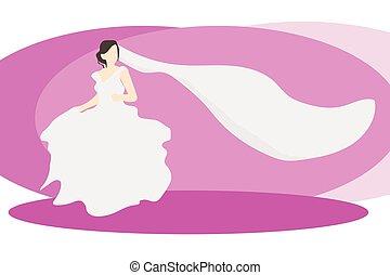 abito nunziale, sposa, velo
