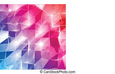 abstract., vettore, triangolo, colorito, fondo