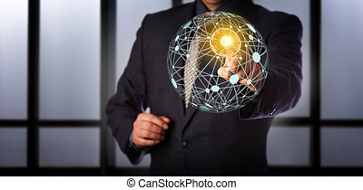 accedere a, rete, globale, virtuale, direttore, maglia