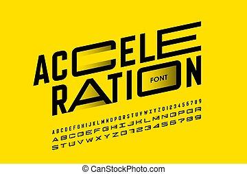 accelerazione, disegno, font, stile