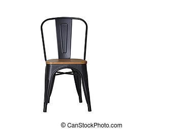 acciaio, ritaglio, nero, percorso, bianco, sedia