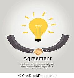 accordo, handshake., affari