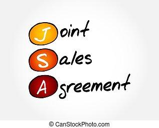 accordo, vendite, articolazione, -, concetto, fondo, acronimo, jsa, affari