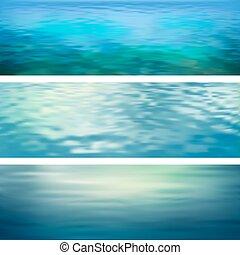acqua, astratto, vettore, bandiere