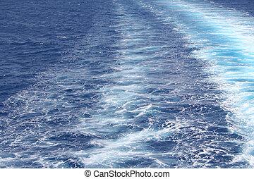 acqua, azzurro, fondo, mare, ondulazione, superficie