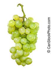 acqua, bianco, gocce, uva, mazzo